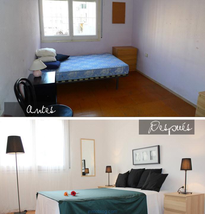 Ejemplo del antes y el después de una acción de homestaging (decoesfera)